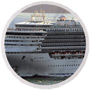 Close Up Of Diamond Princess Round Beach Towel