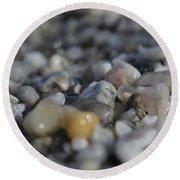 Close Up Of Rocks Round Beach Towel