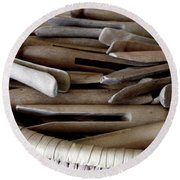 Clothes-pins Round Beach Towel
