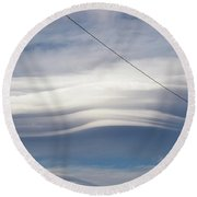 Cloud 17 Round Beach Towel