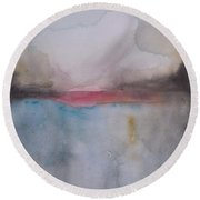 Cloud Over The Lake Round Beach Towel