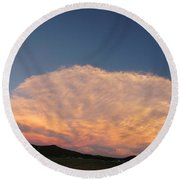 Cloud Afar Round Beach Towel