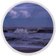Cloud And Wave Seaside New Jersey Round Beach Towel