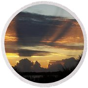 Cloud Cast Glory Round Beach Towel