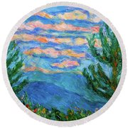 Cloud Color Round Beach Towel