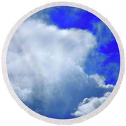 Cloud Commotion Round Beach Towel