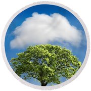 Cloud Cover Round Beach Towel