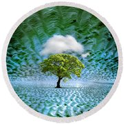 Cloud Cover Recurring Round Beach Towel