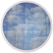Cloud Curtain Round Beach Towel