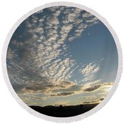 Cloud Dancing Round Beach Towel