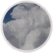 Cloud Depth I Round Beach Towel