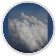 Cloud Depth II Round Beach Towel