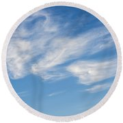 Cloud Faces Round Beach Towel