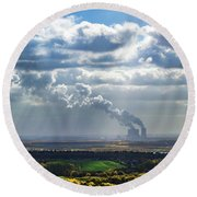 Cloud Factory Round Beach Towel