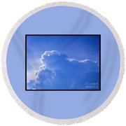 Cloud Figures Round Beach Towel