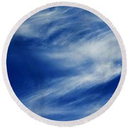 Cloud Formations Round Beach Towel