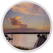 Cloud Forms Round Beach Towel