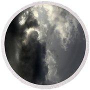 Cloud Image 1 Round Beach Towel