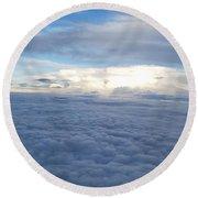 Cloud Landscape Round Beach Towel
