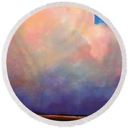 Cloud Light Round Beach Towel by Toni Grote