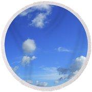 Cloud Of Z Round Beach Towel