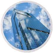 Cloud Reflections Round Beach Towel