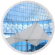 Cloud Reflections - Revel Hotel Round Beach Towel