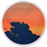 Cloud Shapes  Round Beach Towel
