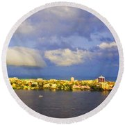 Cloud Shelf  Round Beach Towel