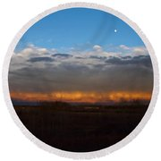 Cloud Spectrum Round Beach Towel
