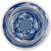 Cloud Spiral Round Beach Towel
