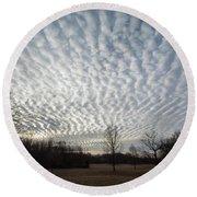 Cloud Symmetry Round Beach Towel