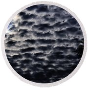Cloud Tiles Round Beach Towel