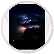 Cloud To Cloud Lightning Photography Poster Round Beach Towel