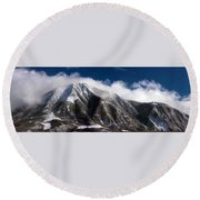Cloud Touched Round Beach Towel