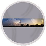 Cloud Wars Round Beach Towel