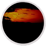 Clouded From The Sun Round Beach Towel