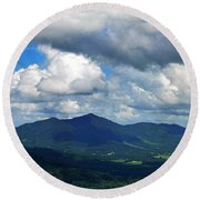 Clouded Landscape Round Beach Towel