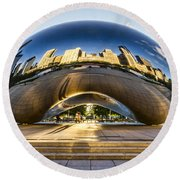 Cloudgate In Chicago Round Beach Towel