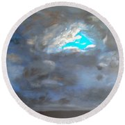 Cloudhole Round Beach Towel
