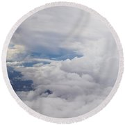 Clouding In Round Beach Towel