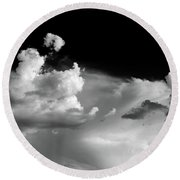 Clouds 1 Round Beach Towel