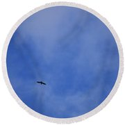 Clouds 2 Round Beach Towel