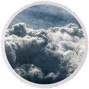 Clouds 3 Round Beach Towel