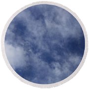 Clouds 5 Round Beach Towel