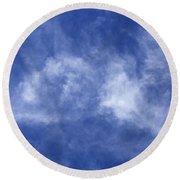 Clouds 6 Round Beach Towel