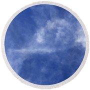 Clouds 7 Round Beach Towel