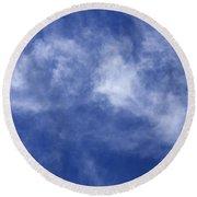 Clouds 8 Round Beach Towel