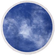 Clouds 9 Round Beach Towel