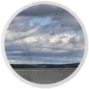 Clouds After The Storm Round Beach Towel